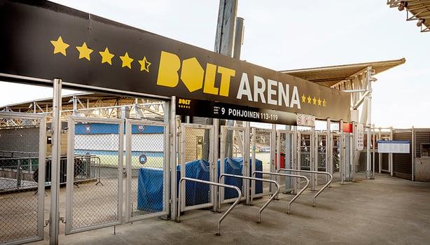 Uusi Bolt Arena brändättiin Töölöön yhdessä yössä