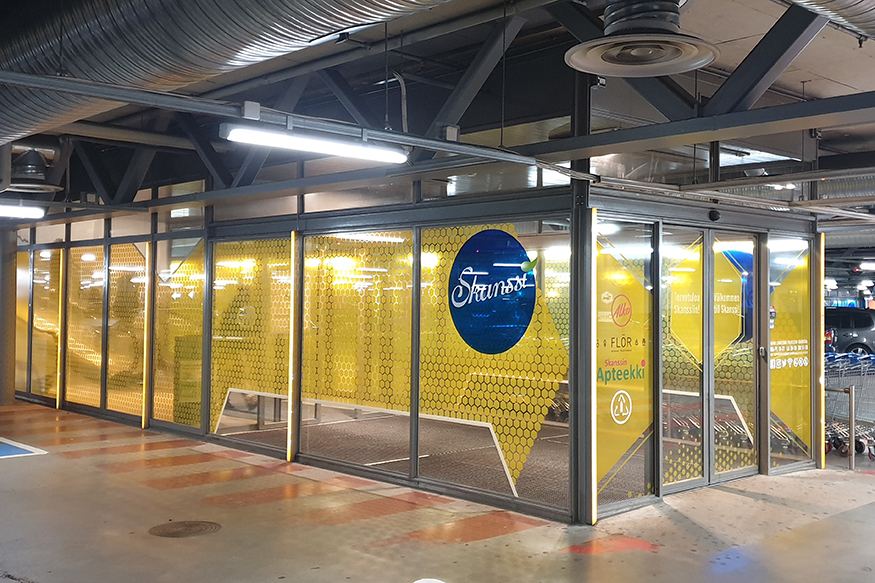 Grano provided Shopping Centre Skanssi with new colour coded signposting
