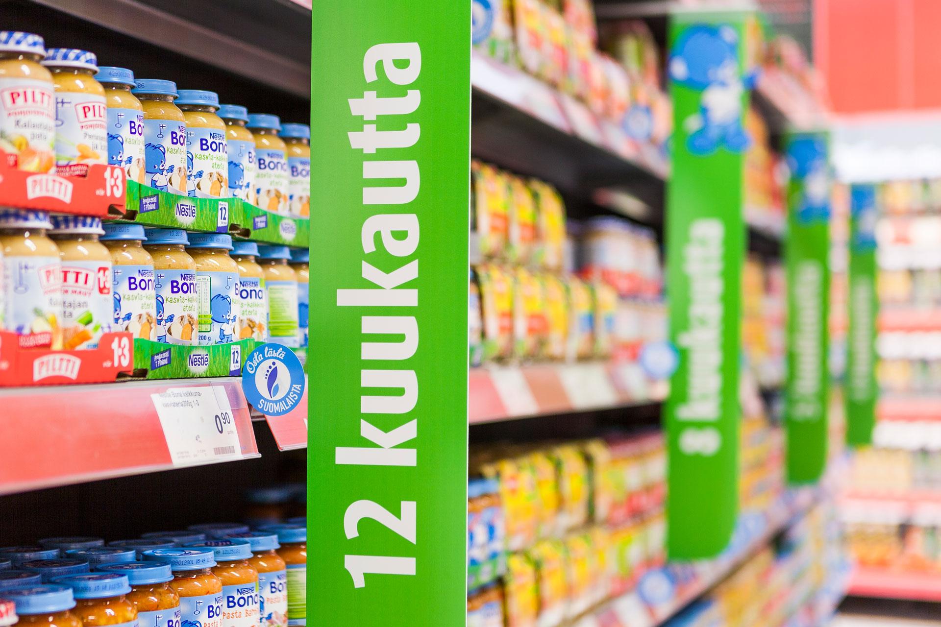 Toteutimme Nestlélle myymälämainontaa, joka kasvatti myyntiä merkittävästi