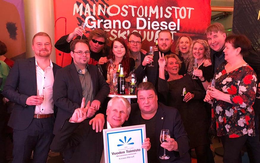 Mainostoimisto Grano Diesel on Vuoden Toimisto 2020