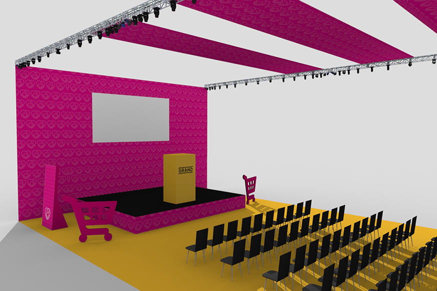 Granon brändäämä esiintymislava Retail Experience Live 2019
