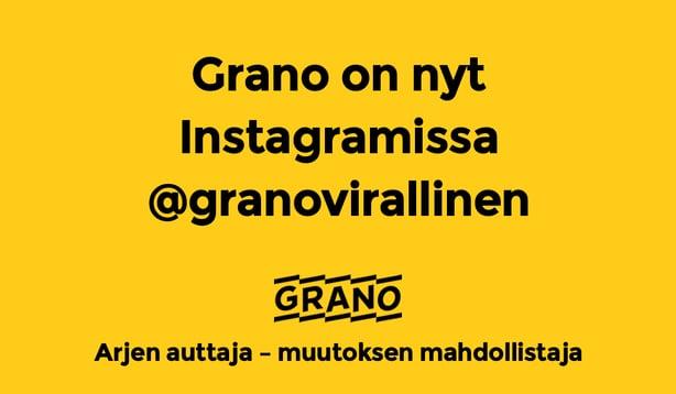 Löydät Granon Instagramista nyt nimellä @granovirallinen