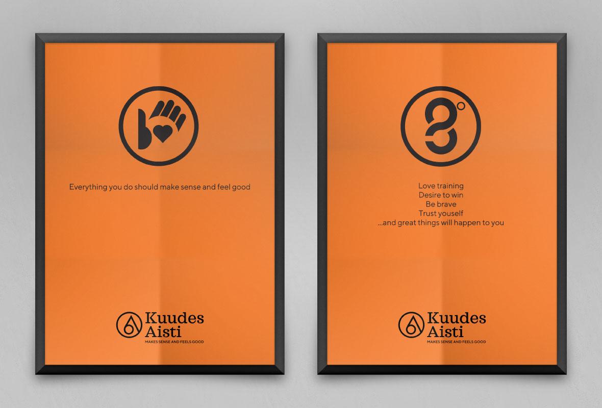 Kuudes aisti Grano Retail & Creative Yritysilme Logo Materiaalien uudistus