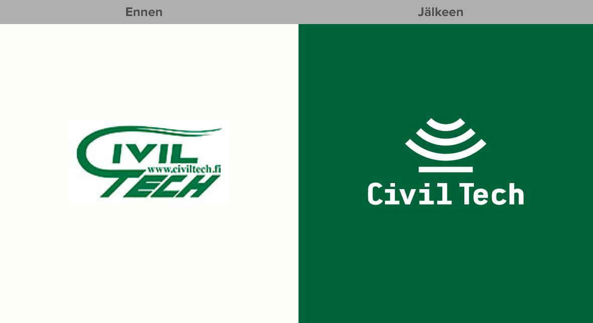 Yritysilmeen ja verkkosivujen uudistus Civil Tech Grano