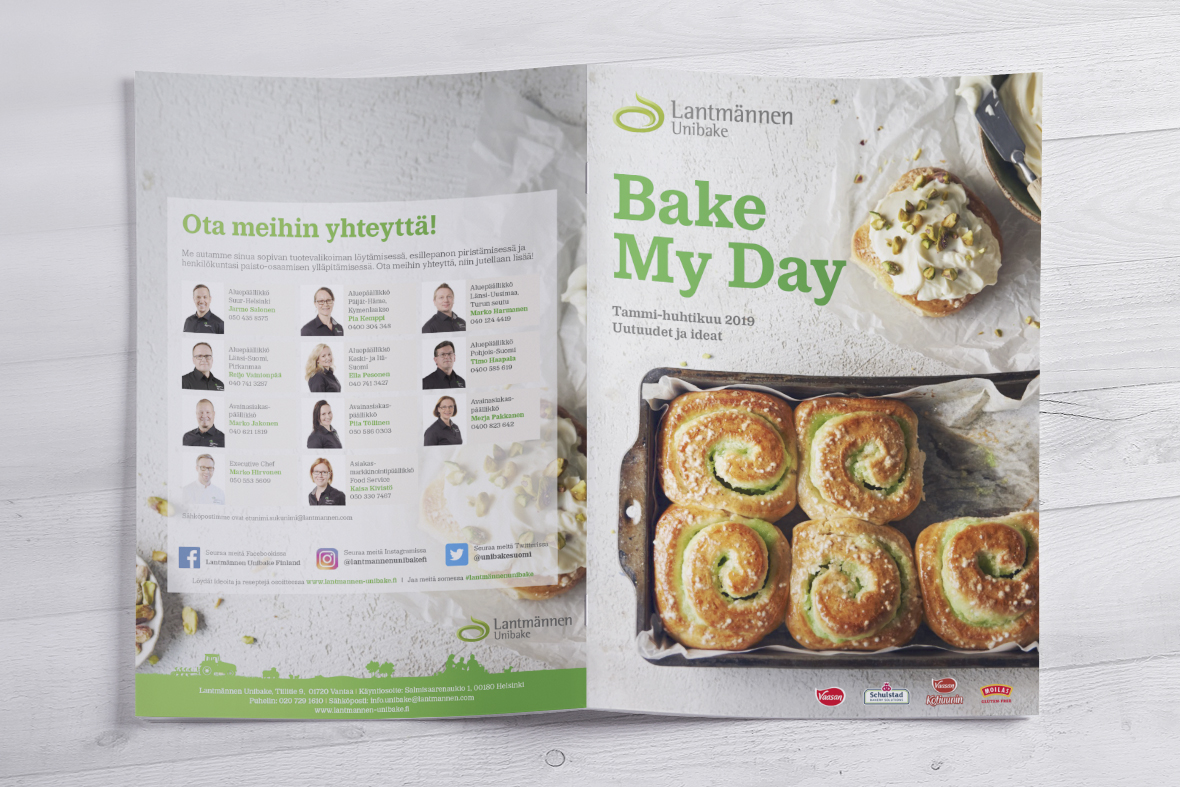 Lantmännen Unibake Bake My Day 1/2019 Grano Retail & Creative Referenssi