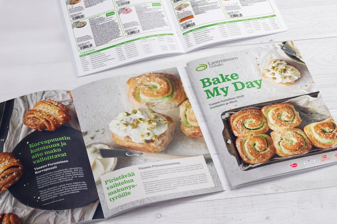Lantmännen Unibake Bake My Day 1/2019 Esite Grano Retail & Creative Referenssi Case