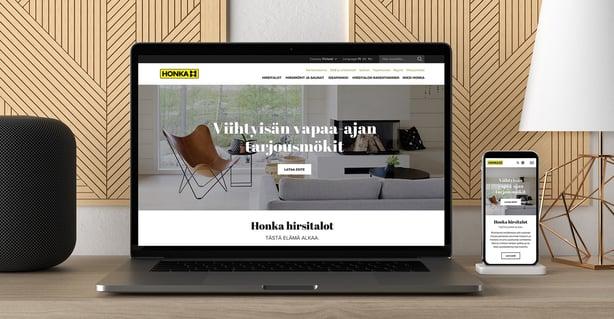 Grano uudisti globaalit verkkosivut Honkarakenteelle
